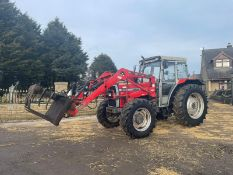 1992 MASSEY FERGUSON 390 TRACTOR WITH LOADER AND GRAB, RUNS, DRIVES AND LIFTS *PLUS VAT*