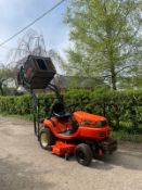 KUBOTA G18 RIDE ON LAWN MOWER, RUNS WORKS AND DECK WORKS FINE, HIGH TIP COLLECTOR *NO VAT*