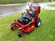 """TORO GRANDSTAND STAND ON MOWER, ZERO TURN, 485 HOURS FROM NEW, YEAR 2015, 36"""" CUT SIDE DISCHARGE"""