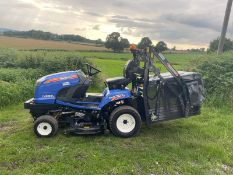 2017 ISEKI SXG323 RIDE ON HIGH TIP MOWER, RUNS DRIVES AND CUTS, SHOWING A LOW 964 HOURS *NO VAT*
