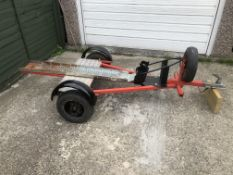 SINGLE BIKE TRAILER WITH SPARE WHEEL, HAS LIGHTS AND INDICATORS *PLUS VAT*