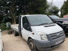 2012 FORD TRANSIT 125 T350 RWD WHITE DROPSIDE PICK UP, 2.2 DIESEL, 159K MILES, UNKNOWN FAULT *NO VAT