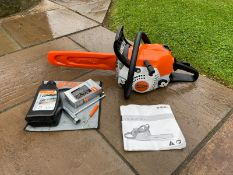 """NEW AND UNUSED STIHL MS181C CHAINSAW, RUNS AND WORKS, 14"""" BAR AND CHAIN, BAR COVER INCLUDED *NO VAT*"""