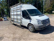 2014 FORD TRANSIT 125 T350 FWD WHITE PANEL VAN, 2.2 DIESEL ENGINE, 111K MILES, 6 SPEED MANUAL*NO VAT