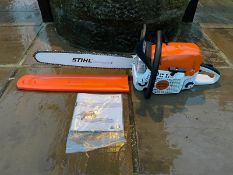 """NEW AND UNUSED STIHL MS391 CHAINSAW, 20"""" BAR AND CHAIN, BAR COVER INCLUDED, MANUAL INCLUDED *NO VAT*"""