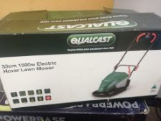 QUALCAST 33cm 1500w ELECTRIC HOVER LAWN MOWER, USED, TESTED WORKING *NO VAT*