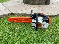 2018 STIHL MS150TC TOP HANDLE CHAINSAW, RUNS AND WORKS, BAR COVER IS INCLUDED *NO VAT*