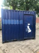 ACOUSTIC BOUNDED SECURITY CABIN CONTAINER, 10ft x 8ft x 8ft, C/W KEYS *PLUS VAT*
