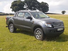 2021 REGISTERED FORD RANGER GREY PICK UP, 2.2 TDCI, 97K MILES, VEHICLE USED ON ARMY BASE SINCE 2015