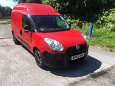 2013 FIAT DOBLO 16V XL MULTIJET LWB RED PANEL VAN, 1.6 DIESEL, SHOWING 41,860 MILES *NO VAT*