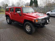 2006 RED HUMMER H3 4x4, 90,171 MILES, SAT NAV, SIDE STEPS AND BULL BARS *PLUS VAT*