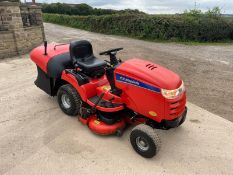 SIMPLICITY BARON 20hp RIDE ON MOWER WITH REAR COLLECTOR, RUNS DRIVES AND CUTS, NEW BATTERY *NO VAT*