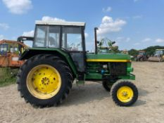 JOHN DEERE 3130 TRACTOR, RUNS AND DRIVES, ALL GEARS WORK, CABBED, 97hp *PLUS VAT*