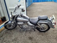 HYOSUNG AQUILA V-TWIN 125CC ONLY 1677 MILES, VERY LOW MILEAGE IN GOOD CONDITION WITH LIKE NEW TYRES