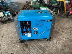 New And Unused Silent 8.5KvA Diesel Generator Tool Bag Is Included *no vat*
