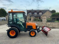 2010/60 KUBOTA B2530 COMPACT TRACTOR WITH FRONT PLOUGH, SHOWING A LOW 907 HOURS *PLUS VAT*