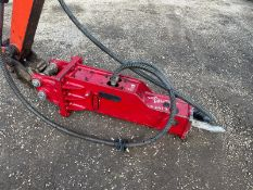2020 ES MANUFACTURING ESB00 ROCK BREAKER, 30mm PINS, PIPES CHISEL AND HEADSTOCK INCLUDED *PLUS VAT*