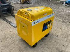 EVO POWER HD6000SL 6KvA DIESEL GENERATOR, 115v OR 230v, ELECTRIC START, 2 KEYS, DIESEL ENGINE*NO VAT