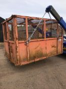 ENCLOSED 14 YARD CHAIN LIFT SKIP VGC, 4 YEARS OLD, £2500 WHEN BOUGHT NEW *NO VAT*