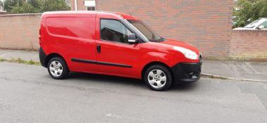2013 FIAT DOBLO 16V MULTIJET RED PANEL VAN, 1.3 DIESEL ENGINE, 61,935 MILES *PLUS VAT*