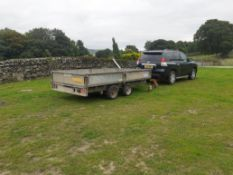 """IFOR WILLIAMS LM126 3500kg FLATBED TRAILER WITH SIDES, 12' LONG, 6' 6"""" WIDE *PLUS VAT*"""