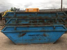 3 x 10 YARD SKIPS, ALL HAVE GOOD FLOORS AND IN SERVICEABLE CONDITION *NO VAT*