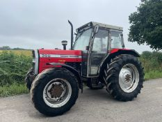 MASSEY FERGUSON 398 4WD TRACTOR, RUNS AND DRIVES, 12 SPEED GEARBOX, CABBED, 95hp *PLUS VAT*