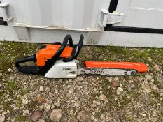 """STIHL MS211 CHAINSAW, RUNS AND WORKS, 16"""" BAR AND CHAIN, BAR COVER IS INCLUDED *NO VAT*"""