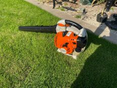 2019 STIHL BG86C-E LEAF BLOWER, RUNS AND WORKS, PIPES ARE INCLUDED *NO VAT*