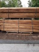 FEATHER EDGE BOARDS ON PALLET, TREATED BROWN, 1650 L x 125 x 12 MM, PACKS OF 160 *NO VAT*