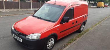 2010 VAUXHALL COMBO 1700 CDTI RED VAN, SHOWING 96,200 MILES, 1.3 DIESEL ENGINE *PLUS VAT*