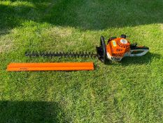 2019 STIHL HS45 HEDGE TRIMMER, RUND AND WORKS, BAR COVER IS INCLUDED *NO VAT*