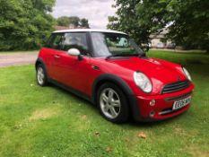 2006 MINI COOPER RED 3 DOOR HATCHBACK, 1.6 PETROL ENGINE, 113,523 MILES *NO VAT*