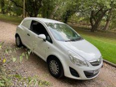 2011 VAUXHALL CORSA CDTI ECOFLEX WHITE VAN, 1.3 DIESEL ENGINE, 81,672 MILES *NO VAT*