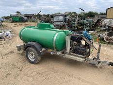 TRAILER ENGINEERED SINGLE AXLE DIESEL BOWSER TRAILER, YANMAR L100 DIESEL ENGINE *PLUS VAT*
