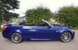 "2012 BMW M3 SEMI AUTO BLUE CONVERTIBLE, 4.0 PETROL ENGINE, 19"" ALLOYS *NO VAT*"