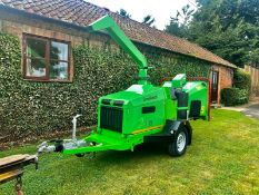 GREENMECH WOODCHIPPER, YEAR 2015, 190MM CHIPPING CAPACITY, ARBORIST 190, ONLY 275 HOURS *PLUS VAT*
