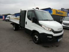 2017 IVECO DAILY 35C14 WHITE LWB TIPPER WITH STORAGE BOX, 88K MILES, 2.3 DIESEL ENGINE *PLUS VAT*