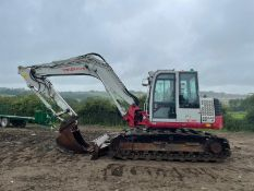 2015 TAKEUCHI TB1140 SERIES 2 15 TON EXCAVATOR, RUNS DRIVES AND DIGS, SHOWING A LOW 6295 HOURS!