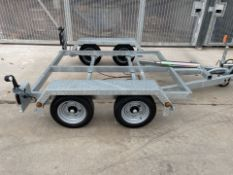 2020 NEVER USED 3000kg TRAILER CHASSIS - KNOTT - 2.1m x 1.8m - TIPPING / PLANT / GENERATOR *PLUS VAT