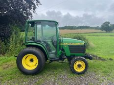 JOHN DEERE 4300 HST TRACTOR, RUNS AND DRIVES, CABBED, 32hp, ROAD KIT, HYDROSTATIC *PLUS VAT*