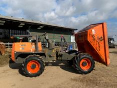 2016 AUSA D 600 AP 6 TON DUMPER, RUNS DRIVES AND TIPS, SHOWING A LOW AND GENUINE 1276 HOURS
