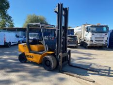 BOSS SX50 5 TON DIESEL FORKLIFT, 4100 HOURS, FREELIFT MAST, NEW OIL AND FILTERS *PLUS VAT*