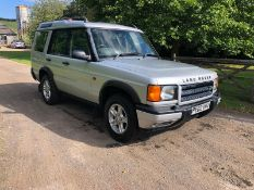 2002 LAND ROVER DISCOVERY TD5 GS SILVER ESTATE, 2.5 DIESEL ENGINE, 201,155 MILES *NO VAT*