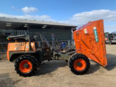 2015 AUSA D 600 AP 6 TON DUMPER, RUNS DRIVES AND TIPS, SHOWING A LOW AND GENUINE 1260 HOURS