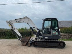 2013 BOBCAT E80 8 TON EXCAVATOR,  2019 JCB HTD-5 DIESEL TRACKED DUMPER, 2013 VAUXHALL CORSA,PALLETS OF FACE MASKS ALL ENDING FROM 7PM TUESDAY!