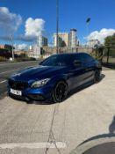 2016 MERCEDES-BENZ AMG C63 S PREMIUM AUTO BLUE SALOON, 4.0 PETROL, 31,500 MILES *NO VAT*