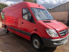 2009 MERCEDES SPRINTER 311 CDI LWB RED PANEL VAN, 126,332 MILES, 2.2 DIESEL ENGINE *PLUS VAT*