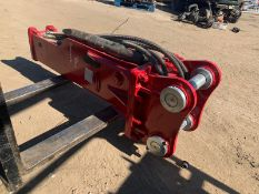 NEW AND UNUSED ES MANUFACTURING ESB05 ROCK BREAKER, 60mm PINS, PIPES AND CHISEL INCLUDED *PLUS VAT*