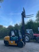 KOMATSU 3.5 TON FORKLIFT, 2 STAGE MAST, SIDE SHIFT, RUNS WORKS AND DRIVES, STILL IN DAILY USE